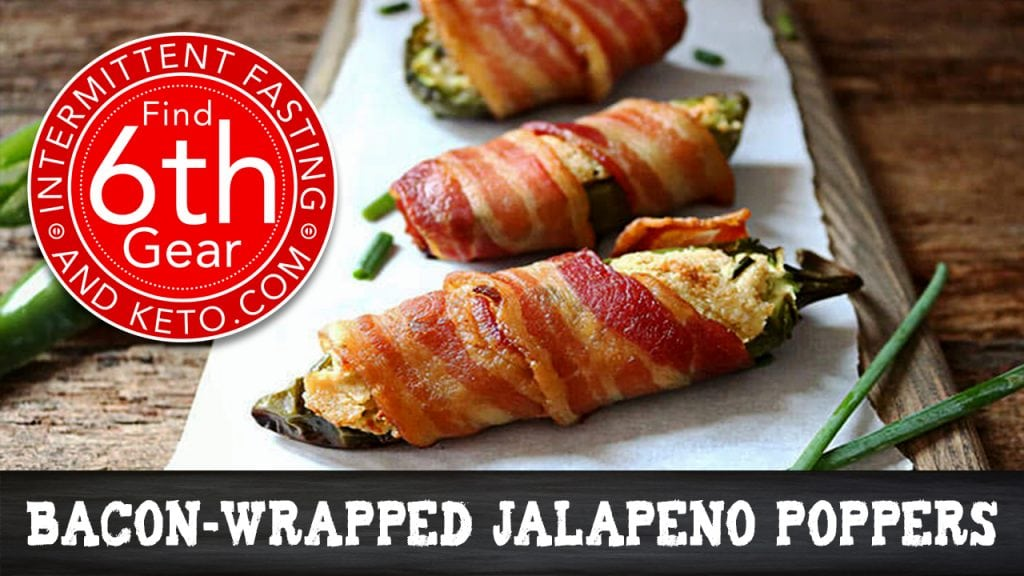 Bacon Wrapped Keto Chile Poppers