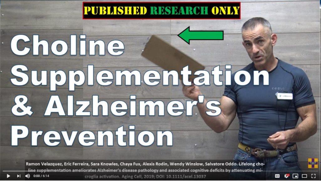 Choline Supplementation & Alzheimer prevention