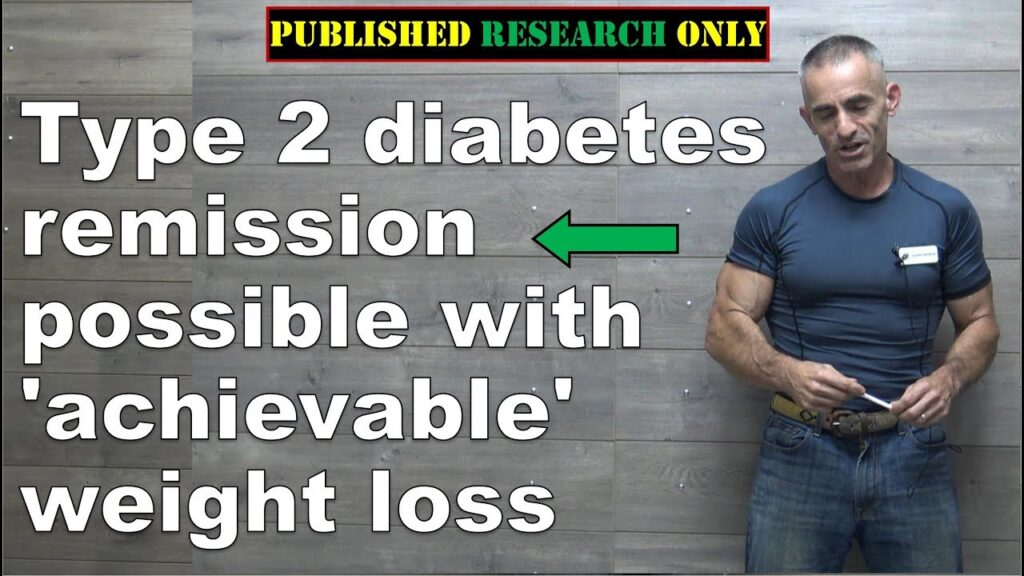 Modest Weight loss can lead to Diabetes Remission